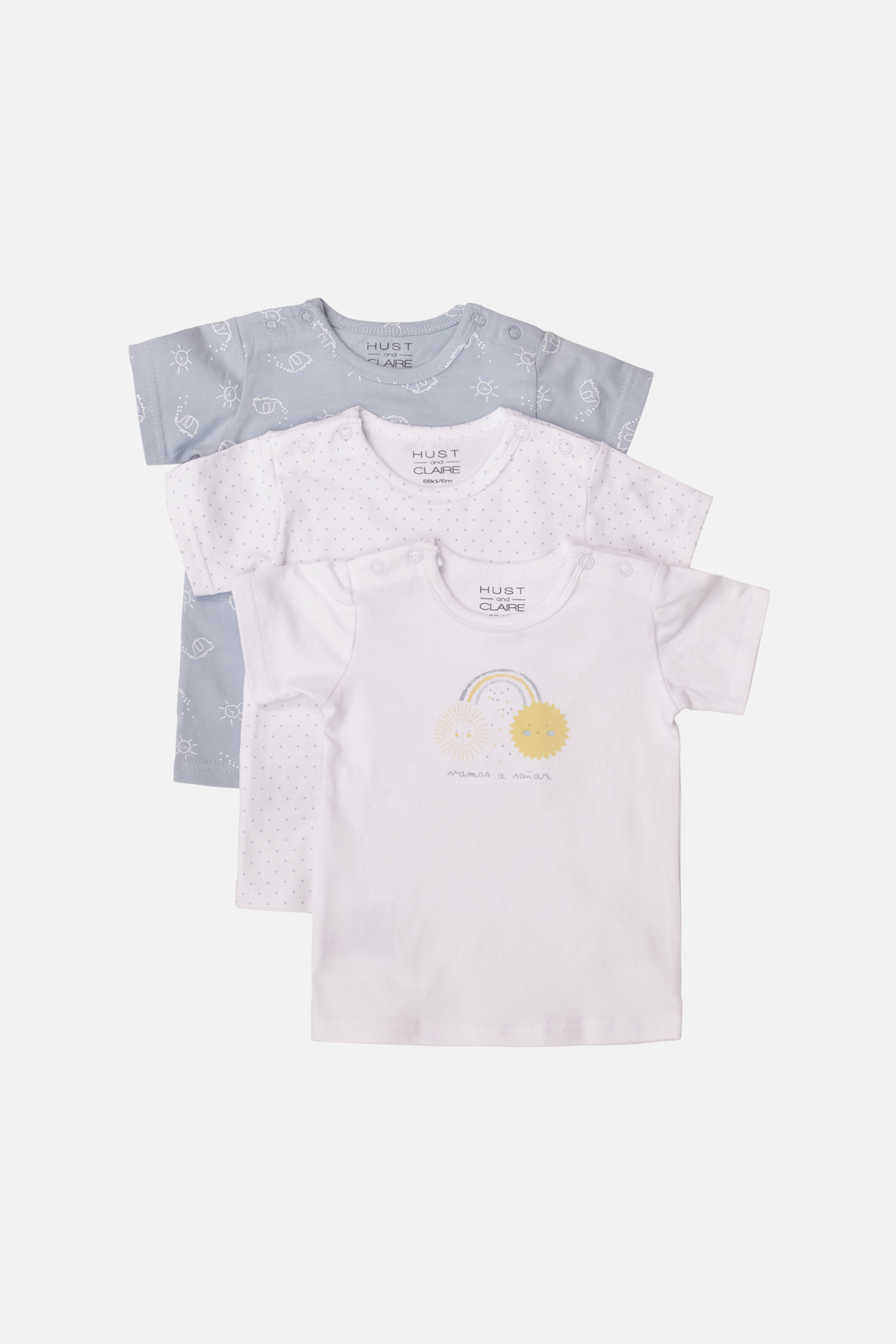Newborn - Alvi - T-shirt S/S 3 pack
