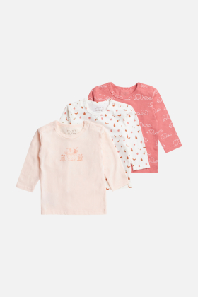 Newborn - Amar - T-shirt L/S 3-pack